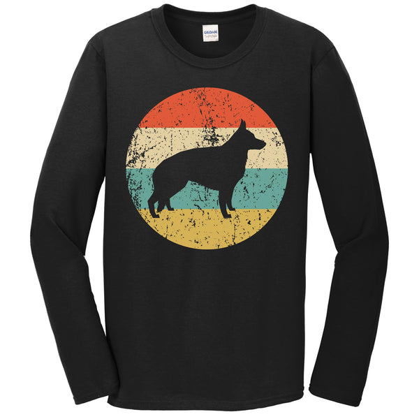 German Shepherd Shirt - Retro German Shepherd Dog Long Sleeve T-Shirt