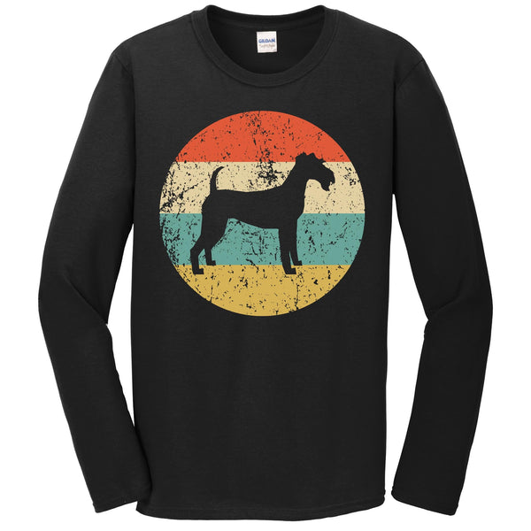 Irish Terrier Shirt - Vintage Retro Irish Terrier Dog Long Sleeve T-Shirt