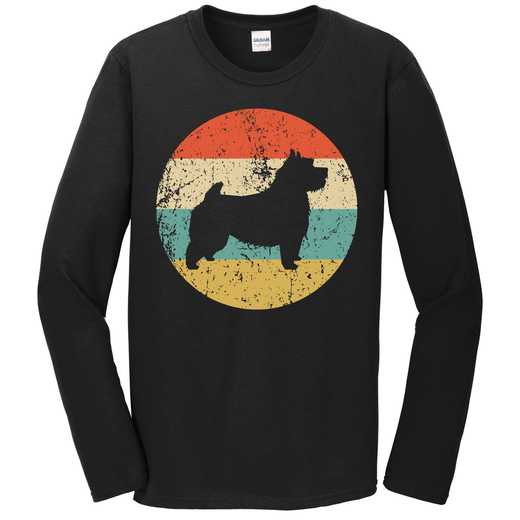 Norwich Terrier Shirt - Retro Norwich Terrier Dog Long Sleeve T-Shirt
