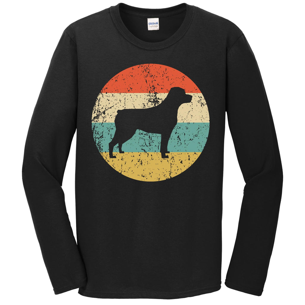 Rottweiler Shirt - Vintage Retro Rottweiler Dog Long Sleeve T-Shirt