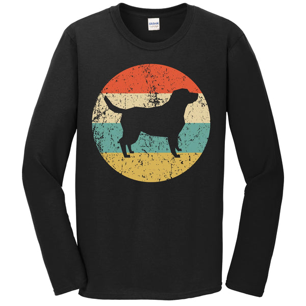 Labrador Retriever Shirt - Vintage Retro Dog Long Sleeve Long Sleeve T-Shirt