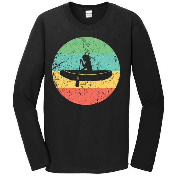 White Water Rafting Long Sleeve Shirt - Vintage Retro Rafter T-Shirt