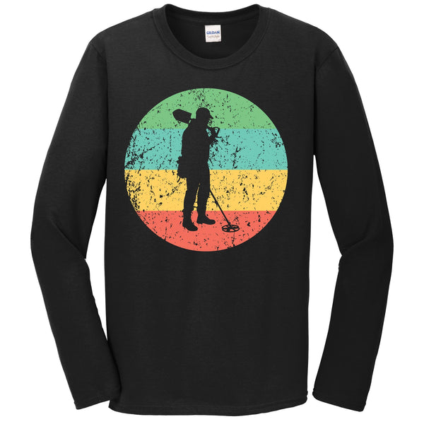 Metal Detecting Long Sleeve Shirt - Vintage Retro Coinshooter T-Shirt