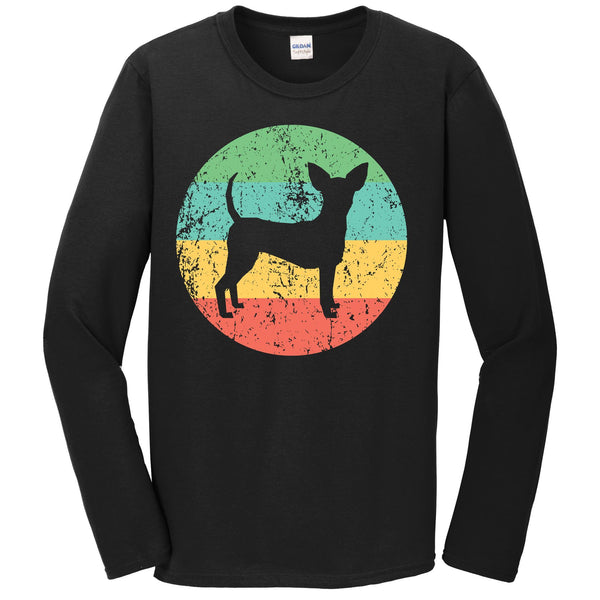 Toy Fox Terrier Long Sleeve Shirt - Retro Toy Fox Terrier Dog T-Shirt