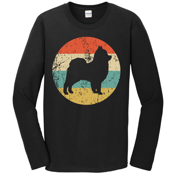Pomeranian Retro Style Dog Long Sleeve T-Shirt
