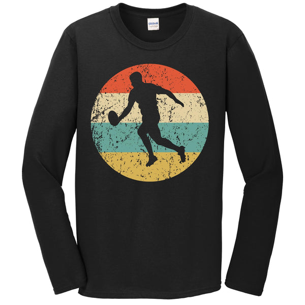 Rugby Player Retro Style Sports Long Sleeve T-Shirt