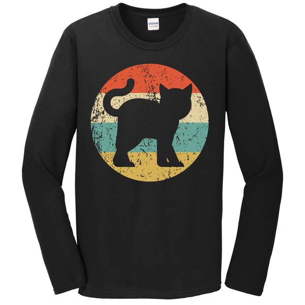Cat Lover Retro Kitten Icon Long Sleeve T-Shirt