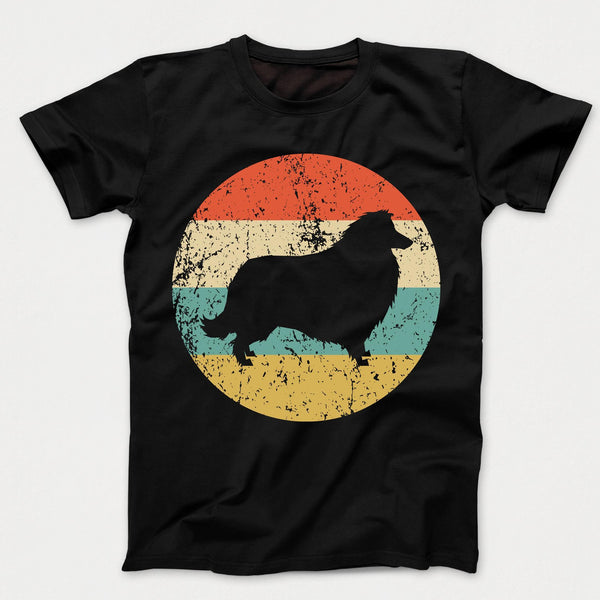 Collie Shirt - Vintage Retro Collie Dog Kids T-Shirt