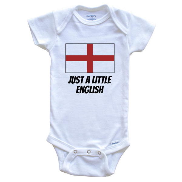 Just A Little English Cute England Flag Baby Onesie