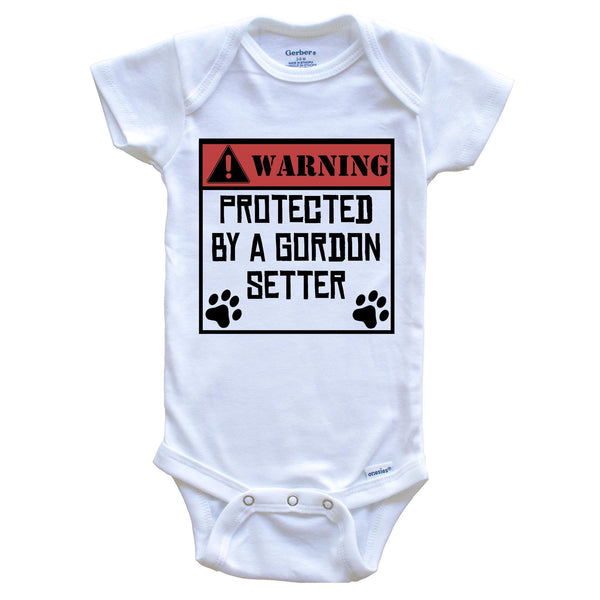 Warning Protected By A French Mastiff Funny Baby Onesie