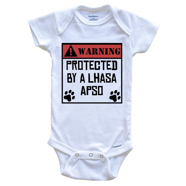 Warning Protected By An Irish Setter Funny Baby Onesie