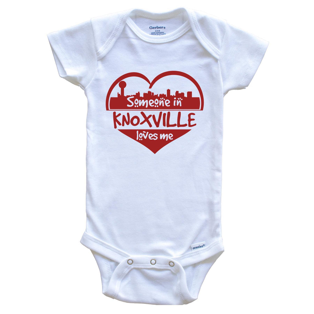 Someone in Knoxville Loves Me Knoxville Tennessee Skyline Heart Baby Onesie