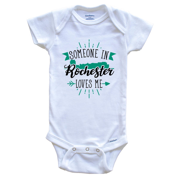Someone In Rochester Loves Me Rochester MN Skyline Baby Onesie
