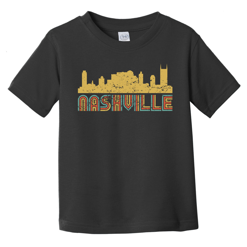 Retro Nashville Tennessee Skyline Infant / Toddler T-Shirt