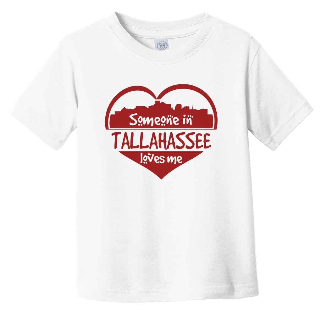 Someone in Tallahassee Loves Me Tallahassee Florida Skyline Heart Infant Toddler T-Shirt