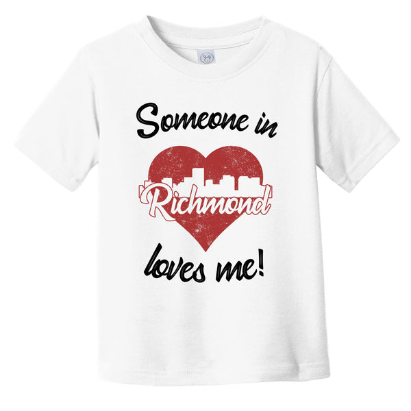 Someone In Richmond Loves Me Red Heart Skyline Infant Toddler T-Shirt