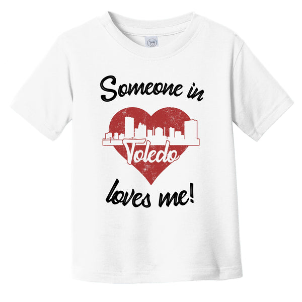 Someone In Toledo Loves Me Red Heart Skyline Infant Toddler T-Shirt