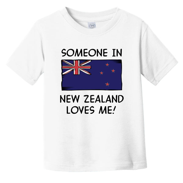 Someone In New Zealand Loves Me Kiwi Flag Infant Toddler T-Shirt