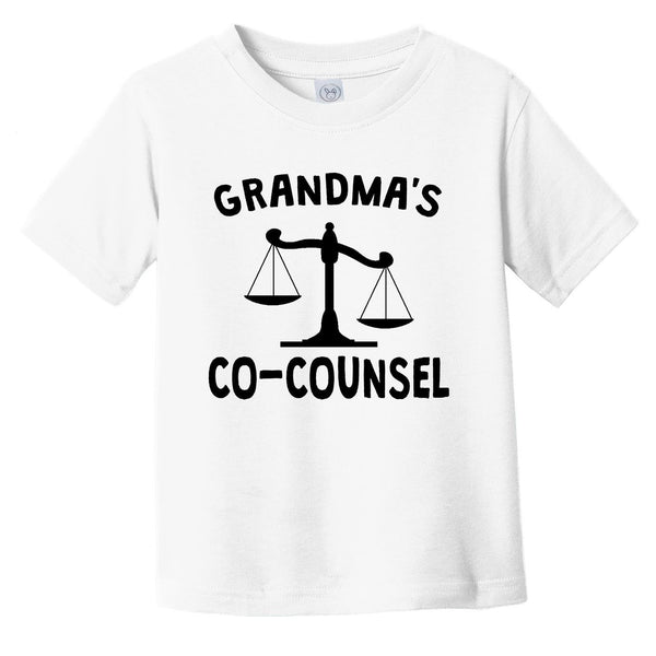 Grandma's Co-Counsel Funny Infant Toddler T-Shirt For Grandchild Of Lawyer