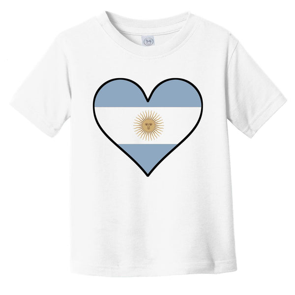 Argentinian Flag T-Shirt - Cute Argentinian Flag Heart - Argentina Infant Toddler Shirt
