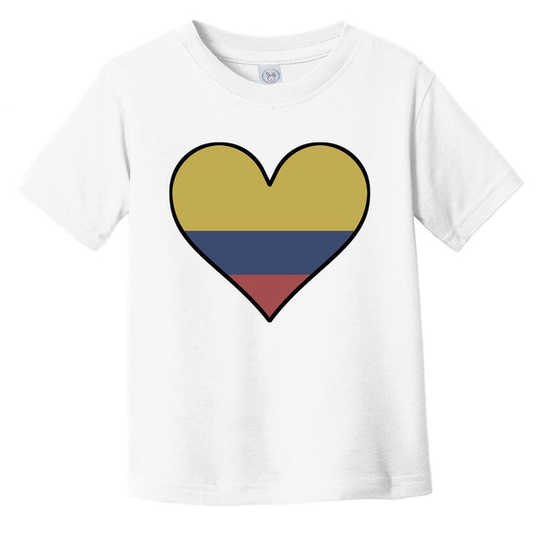Colombian Flag T-Shirt - Cute Colombian Flag Heart - Colombia Infant Toddler Shirt