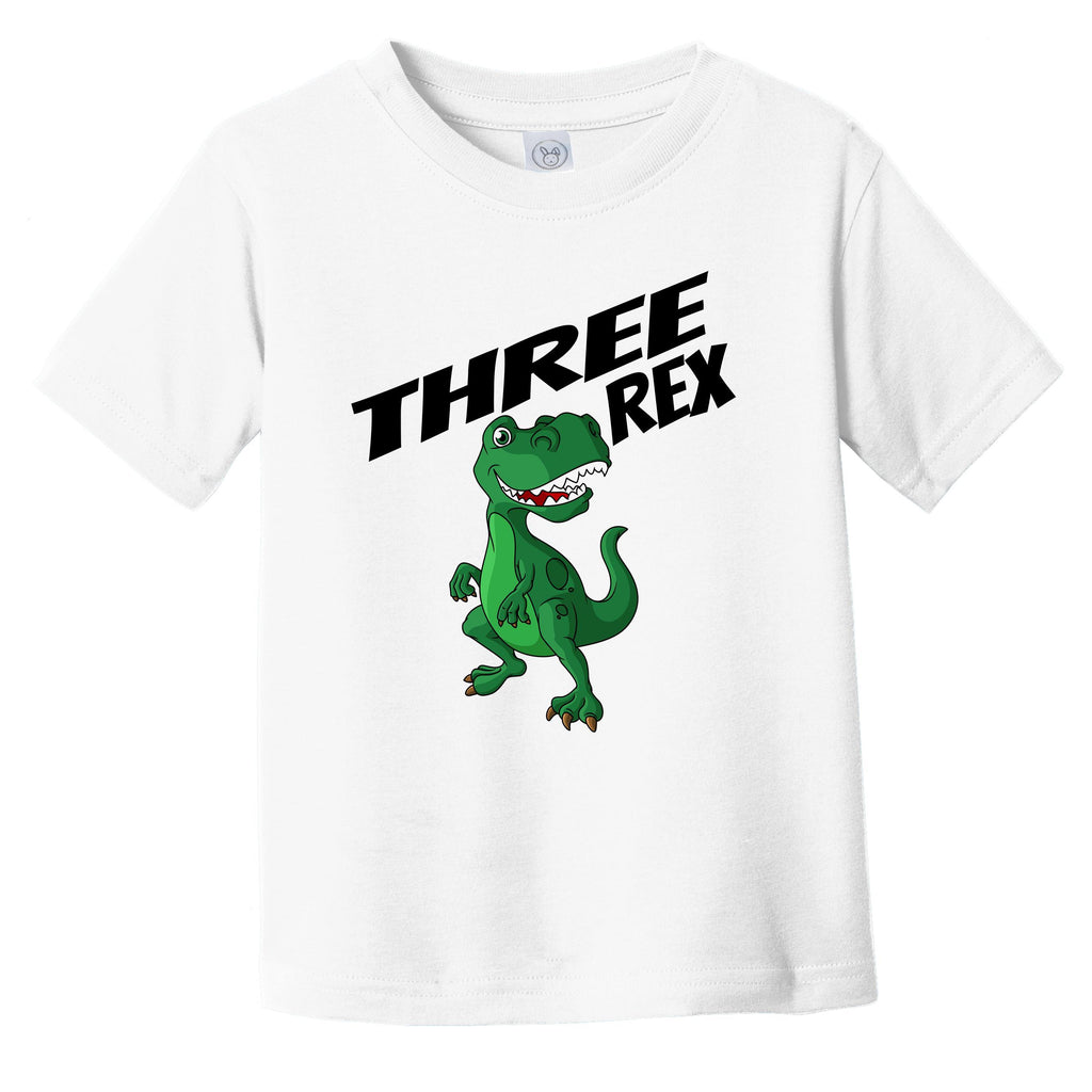 Three Rex 3 Years Old 3rd Birthday Dinosaur Infant Toddler T-Shirt