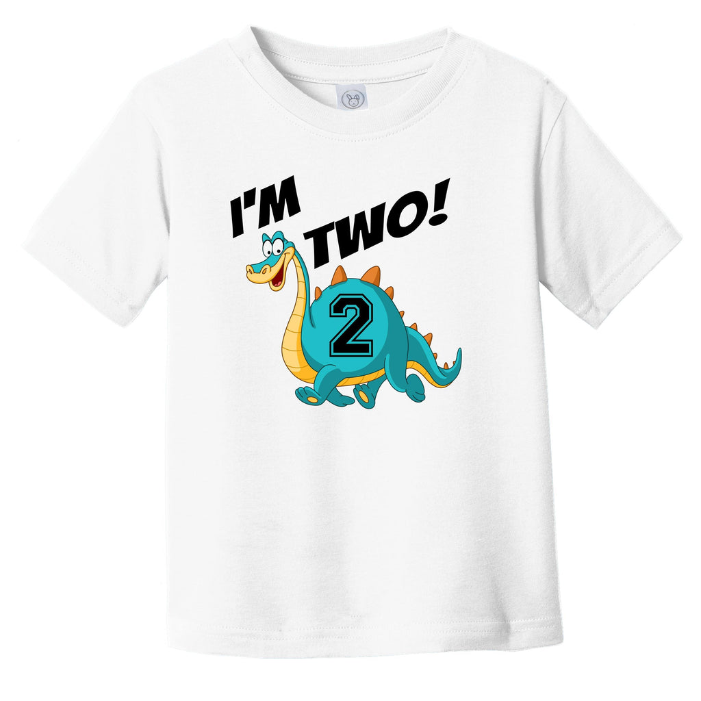 I'm Two! Second Birthday Dinosaur Infant Toddler T-Shirt