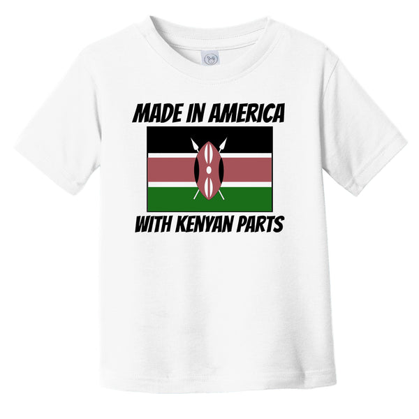 Made In America With Kenyan Parts Kenya Flag Funny Infant Toddler T-Shirt