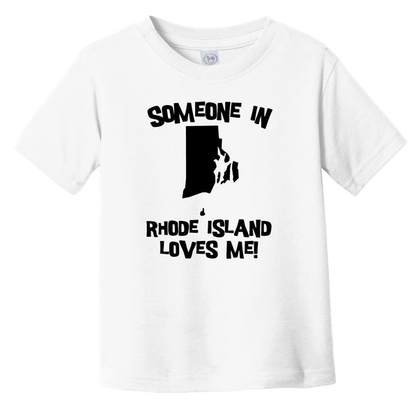 Someone In Rhode Island Loves Me State Silhouette Cute Infant Toddler T-Shirt