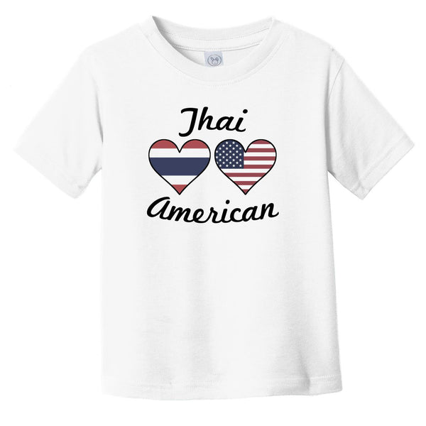 Thai American Flag Hearts Infant Toddler T-Shirt