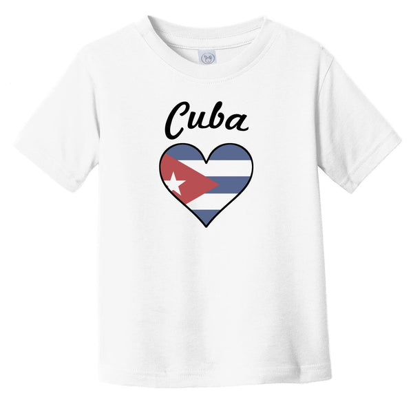 Cuban Flag Heart Infant Toddler T-Shirt