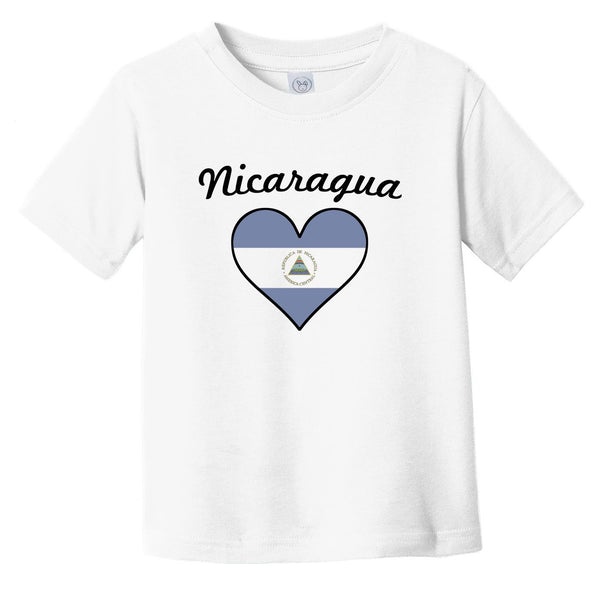 Nicaraguan Flag Heart Infant Toddler T-Shirt