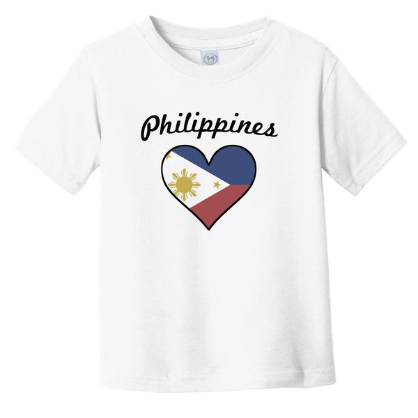 Filipino Flag Heart Infant Toddler T-Shirt