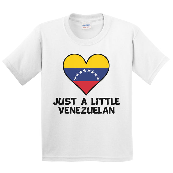 Just A Little Venezuelan T-Shirt - Funny Venezuela Flag Kids Youth Shirt