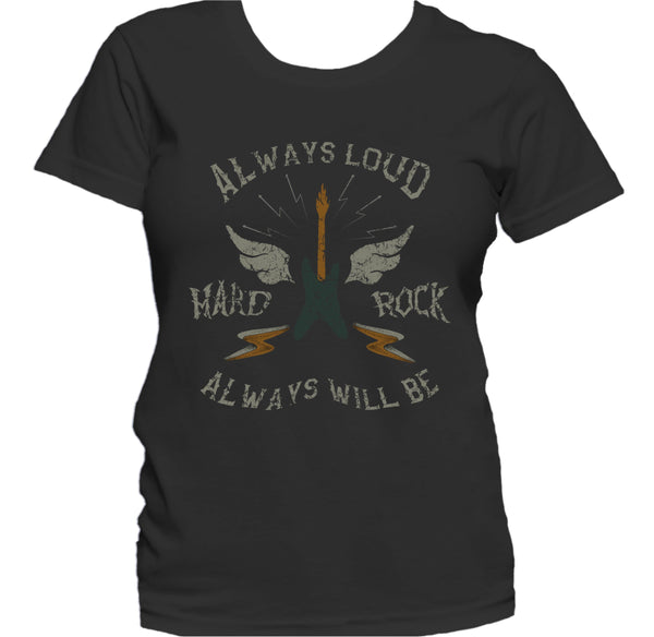 Hard Rock Always Loud Always Will Be Guitar Graphic Women's T-Shirt