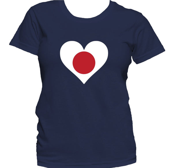Japanese Flag Heart Japan Love Women's T-Shirt