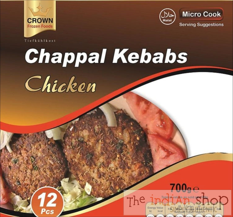 Crown Chicken Chappal Kebabs - 700 g - Frozen Non Vegetarian Food