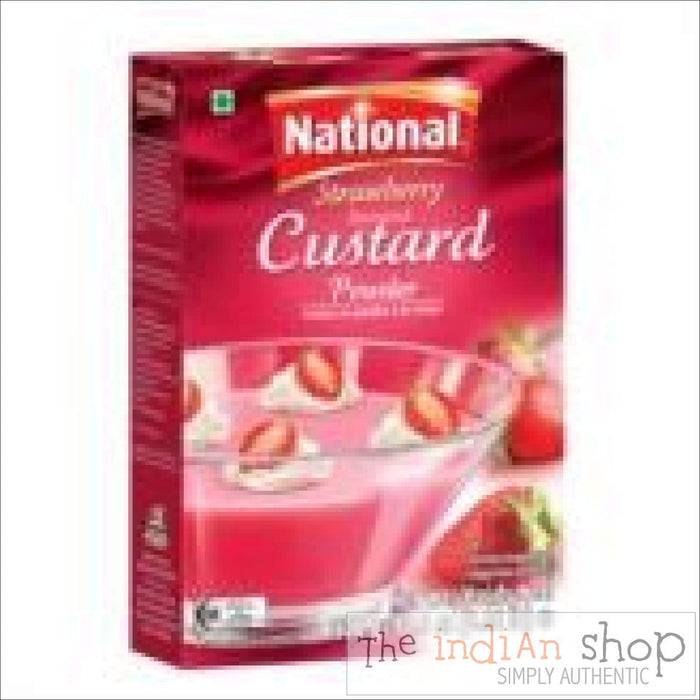 National Strawberry Custard Mix - 300 g - Mithai