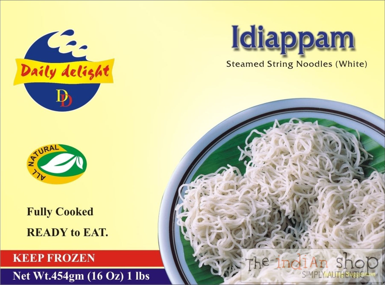 Daily Delight Idiappam White - 454 g - Frozen Ready to Eat