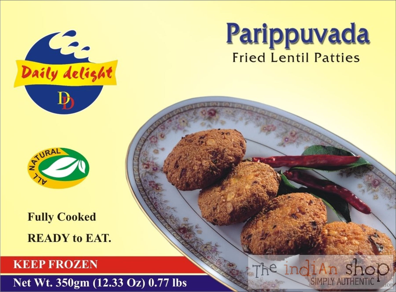 Daily Delight Parippuvada - 300 g - Frozen Snacks