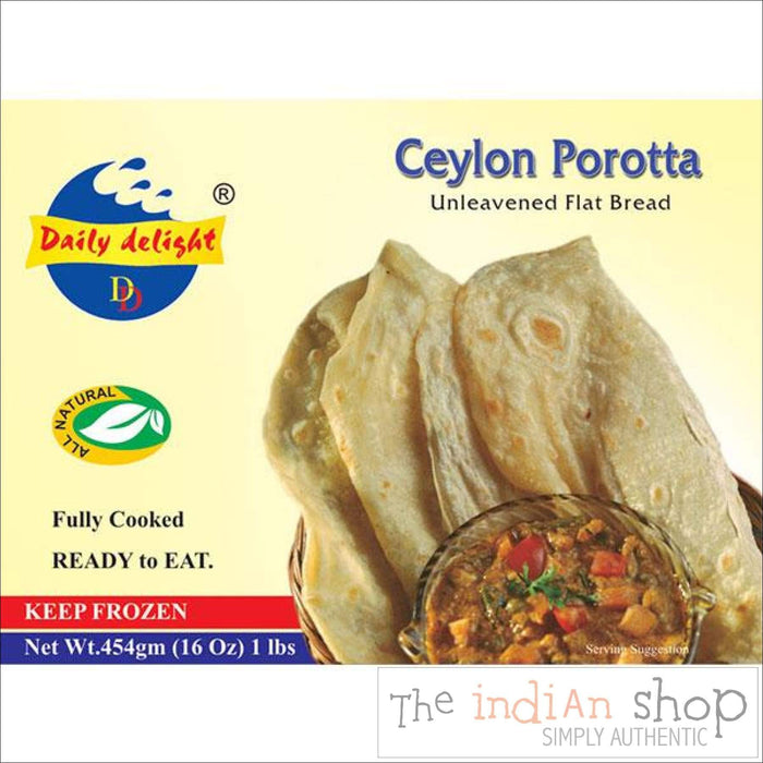 Daily Delight Ceylon Porotta - 454 g - Frozen Indian Breads