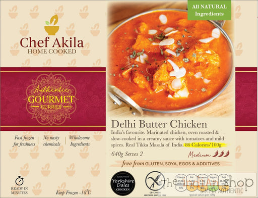 Chef Akila Delhi Butter Chicken - 640 g - Frozen Curries