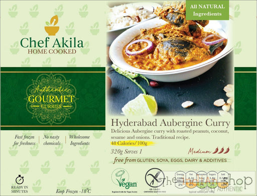 Chef Akila Aubergine and Peanut Curry - 640 g - Frozen Curries
