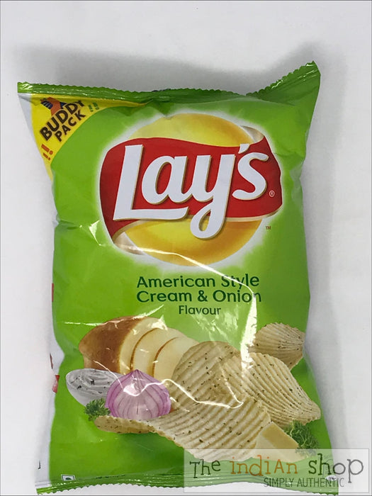 Lays Chips American Cream and Onion - 52 g - Snacks