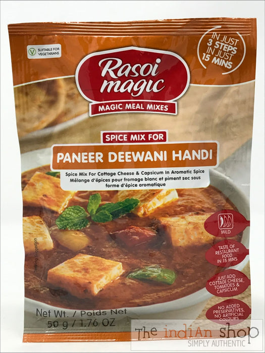 Rasoi Magic Paneer Deewani Handi - 50 g - Mixes