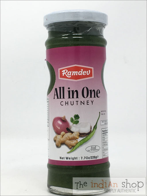 Ramdev All in One Chutney - 220 g - Chutneys