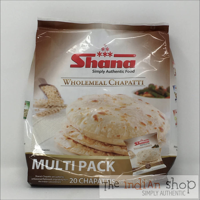 Shana Wholemeal Chapati Family Pack - 800 g - Frozen Indian Breads