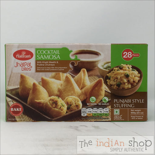 Haldiram Cocktail Samosa - 650 g - Frozen Snacks