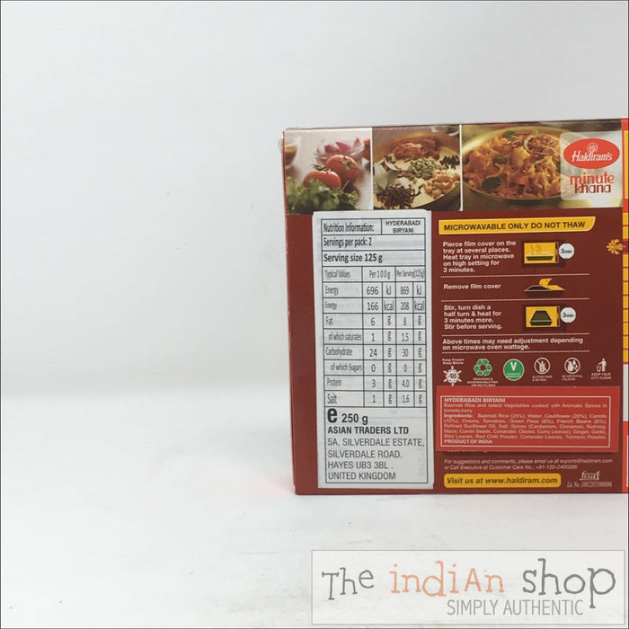 Haldiram Hyderabadi Biriyani - Frozen Ready to Eat