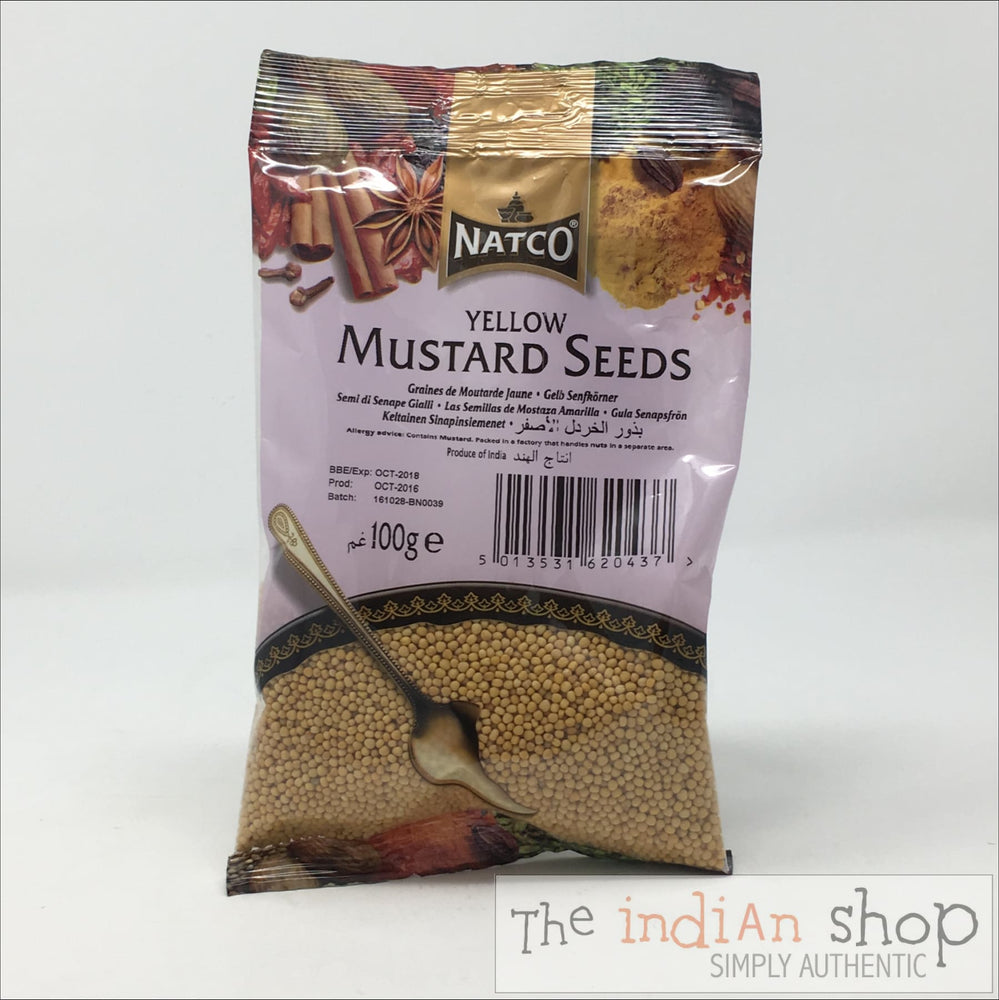 Natco Yellow Mustard Seeds - 100 g - Spices